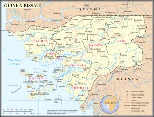 Cartina Guinea Bissau
