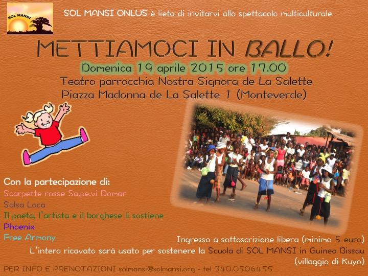 Mettiamoci in ballo, evento di beneficenza a Roma il 19 aprile